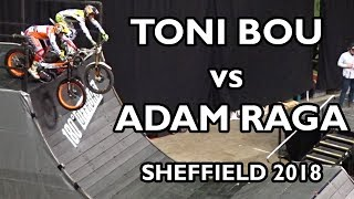 Video Adam Raga vs Toni Bou - Sheffield Indoor Motorbike Trial 2018 MP3, 3GP, MP4, WEBM, AVI, FLV Juli 2018