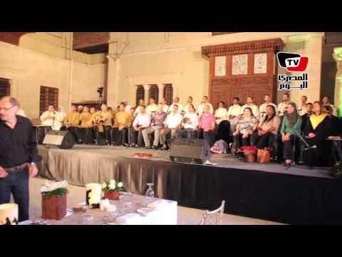 غناء وترانيم في احتفالية لإحياء مسار العائلة المقدسة بالمتحف القبطي