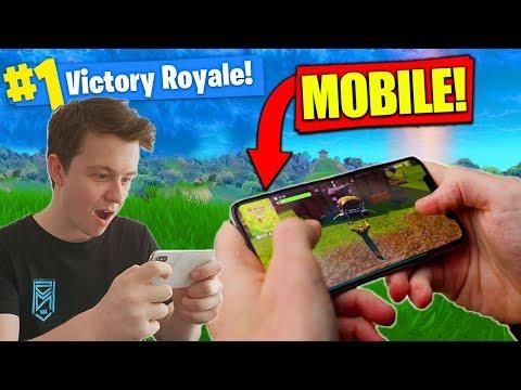 WINNING *NEW* FORTNITE On MOBILE! [Gameplay] (видео)