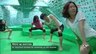Mungyeong-si South Korea  city photos gallery : Korea Top10-An artificial wall with grips for practicing rock climbing indoors