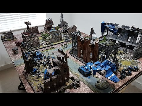 Eldar vs Space Marines; 8th edition Warhammer 40k batrep