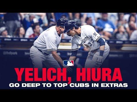 Video: Yelich, Hiura go deep in extras