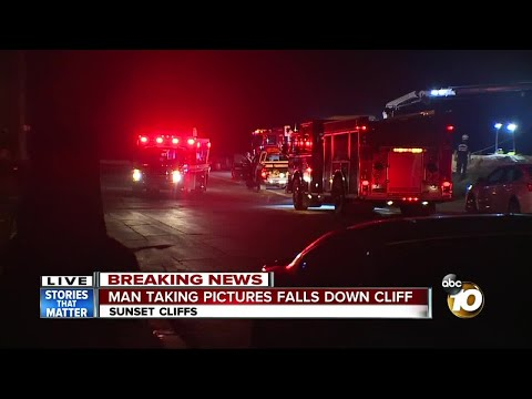 Man taking pictures falls off Sunset Cliffs