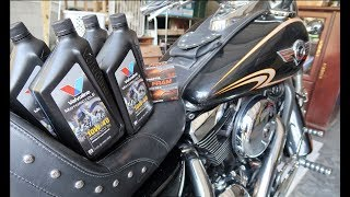 10. How to change motorcycle oil - Kawasaki Vulcan