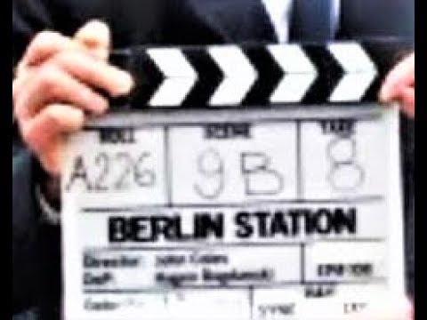 Richard Armitage behind the scenes during the Berlin Station Filming