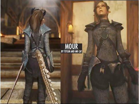 ForgeByGames - Skyrim Follower Dragon Lady - Mour (видео)