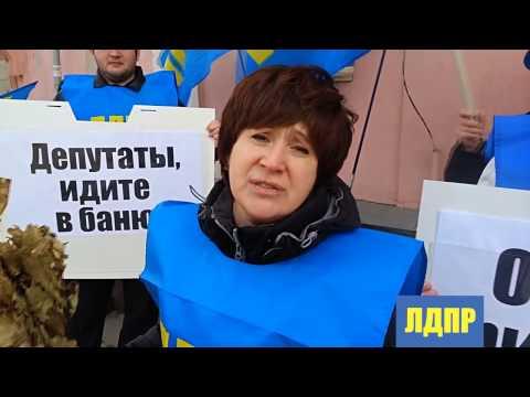 Пикет Нижегородского РО ЛДПР против приватизации бань