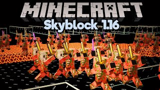 Incredible Gold Farm Upgrades! • Minecraft 1.16 Skyblock (Tutorial Let's Play) [Part 17]