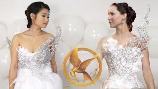 DIY Hunger Games Catching Fire Katniss Everdeen Wedding Dress | Halloween - YouTube