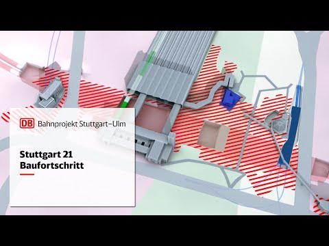 Animationsfilm Baufortschritt Stuttgart 21