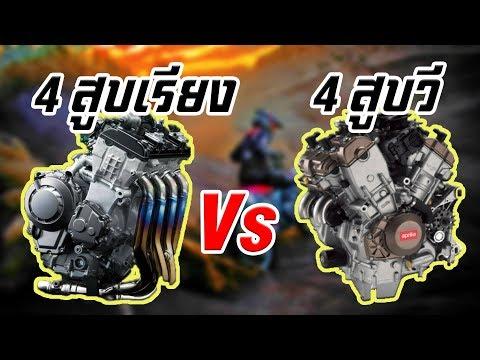 เครื่องยนต์สี่สูบเรียง Vs เครื่องยนต์สีสูบวี (V4) แตกต่างกันอย่างไรทำไมการแข่งขันจึงนิยม V4??