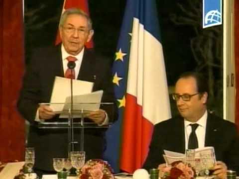 Palabras del Presidente Raúl Castro durante la cena de Estado ofrecida en el Palacio del Elíseo