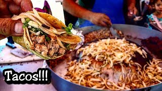 These Are Real Mexican Tacos!!! - Nothing Like Taco Bell - Mexican Street Food Is The Best!!! - You Want A Good Taco? Come Visit Mexico!!! $8.00 pesos each taco = $ .45 cents US!!!!Watch me eat and enjoy some authentic mexican street tacos in San Luis Potosi, MexicoLocation: Calle Acerina 997, Holan, San Luis, S.L.P.Google maps: https://goo.gl/maps/NdSBH9W94mD2If You Would Like To Help And Support My Channel, Check Out My PATREON Account: http://patreon.com.pisuarezCheck Out My Other Street Food Channel CRISPI: https://www.youtube.com/channel/UCxFs-TJofgsEGnLUWqSP-6wMORE STREET FOOD ON THESE PLAYLISTS:https://www.youtube.com/watch?v=CIHxyHgAP2w&list=PLFcIoUWytn0RJDHP1XcH5vmKKqK5ZG11lhttps://www.youtube.com/watch?v=AQAh3hfquKE&list=PLFcIoUWytn0RuiopD73p57fsisjnmNVTFhttps://www.youtube.com/watch?v=lwu5xxqS0FU&list=PLFcIoUWytn0SrBkahOOwYuXW3KlB__vhD