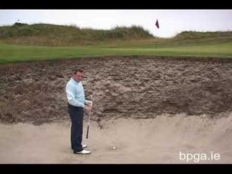 How to play the bunker shot.