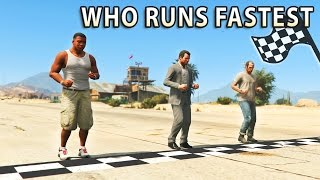 Video GTA V - Which main Character is the Fastest? MP3, 3GP, MP4, WEBM, AVI, FLV Maret 2019