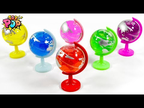 Learning Color Special Slime Globe Find Animal Toys For Kids