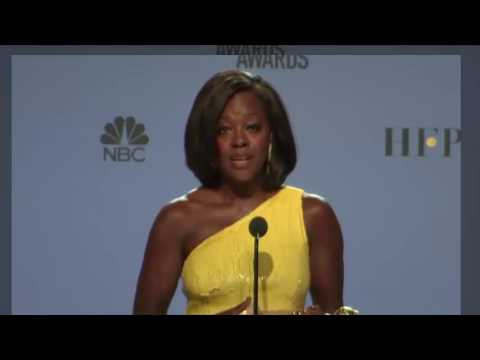 Golden Globes 2017 - Viola Davis - Full Backstage Interview (видео)