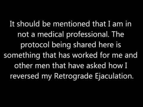 how to perform retrograde ejaculation