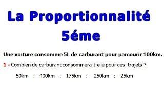Maths 5ème - La proportionnalité Exercice 17