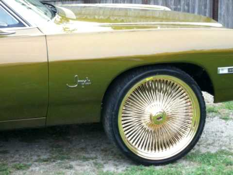 68 IMPALA SS T.V's in doors on Gold Daytons