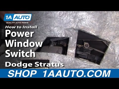 How to Install Replace Power Window Switch Dodge Stratus 01-06 1AAuto.com
