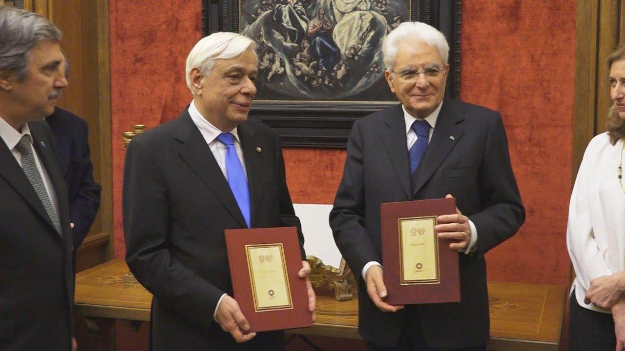 Επίσκεψη του Προέδρου της Ιταλίας S. Mattarella στην Βιβλιοθήκη του Ιδρύματος Α. Ωνάσης