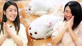 I Try Making Cute Seal Mochi For Rie •Tasty by Tasty