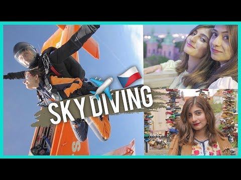 Hairstyles for short hair - SKY DIVING in PRAGUE!  Anushae Says