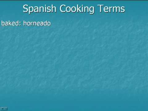 Spanish Vocabulary: Spices And Cooking Terms