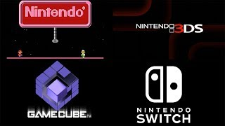 EVERY SINGLE NINTENDO STARTSCREEN (NES, Gameboy, DS, Gamecube Wii, Switch + More)(4K 60FPS)
