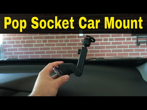 Chialstar Pop Socket Car Mount Review-Phone Mount For Your Car (видео)