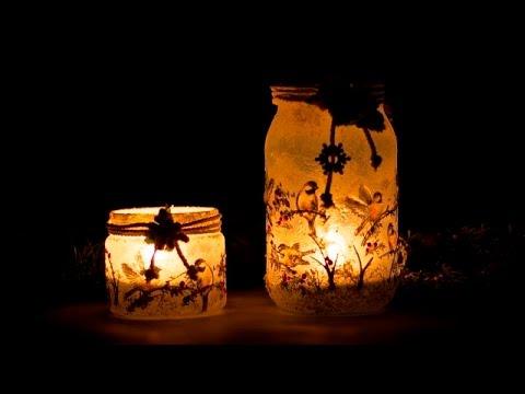 decoupage – lanterne primaverili