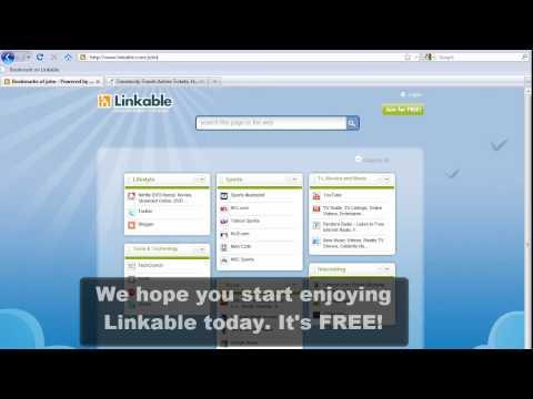 Linkable, Pagina da usare come homepage per gestire al meglio i propri segnalibri