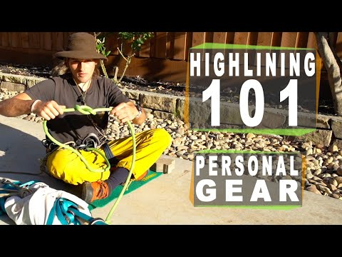 Highlining 101: Section 4 of 7 - Using your highline gear