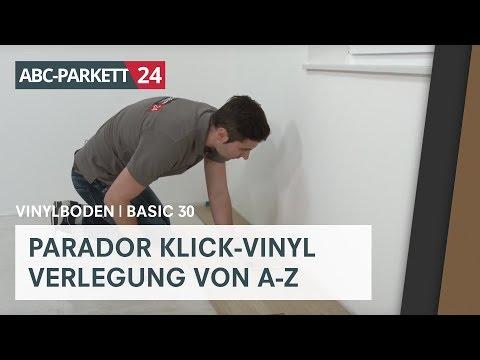 PARADOR Klick-Vinyl Basic 30 auf HDF-Träger richtig verlegen
