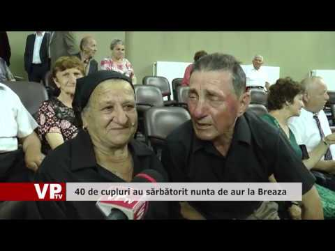40 de cupluri au sărbătorit nunta de aur la Breaza