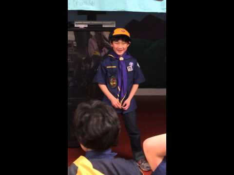 20141220 Cub Scout Pack Meeting - Sing Happy Birthday