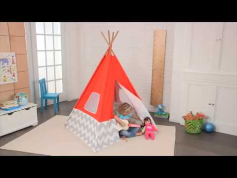 00213 KidKraft Kinderzelt Spiel-Tipi orange