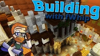 Building with fWhip :: Front Castle Courtyard Finished! :: #62 Minecraft 1.12 Single Player Survival