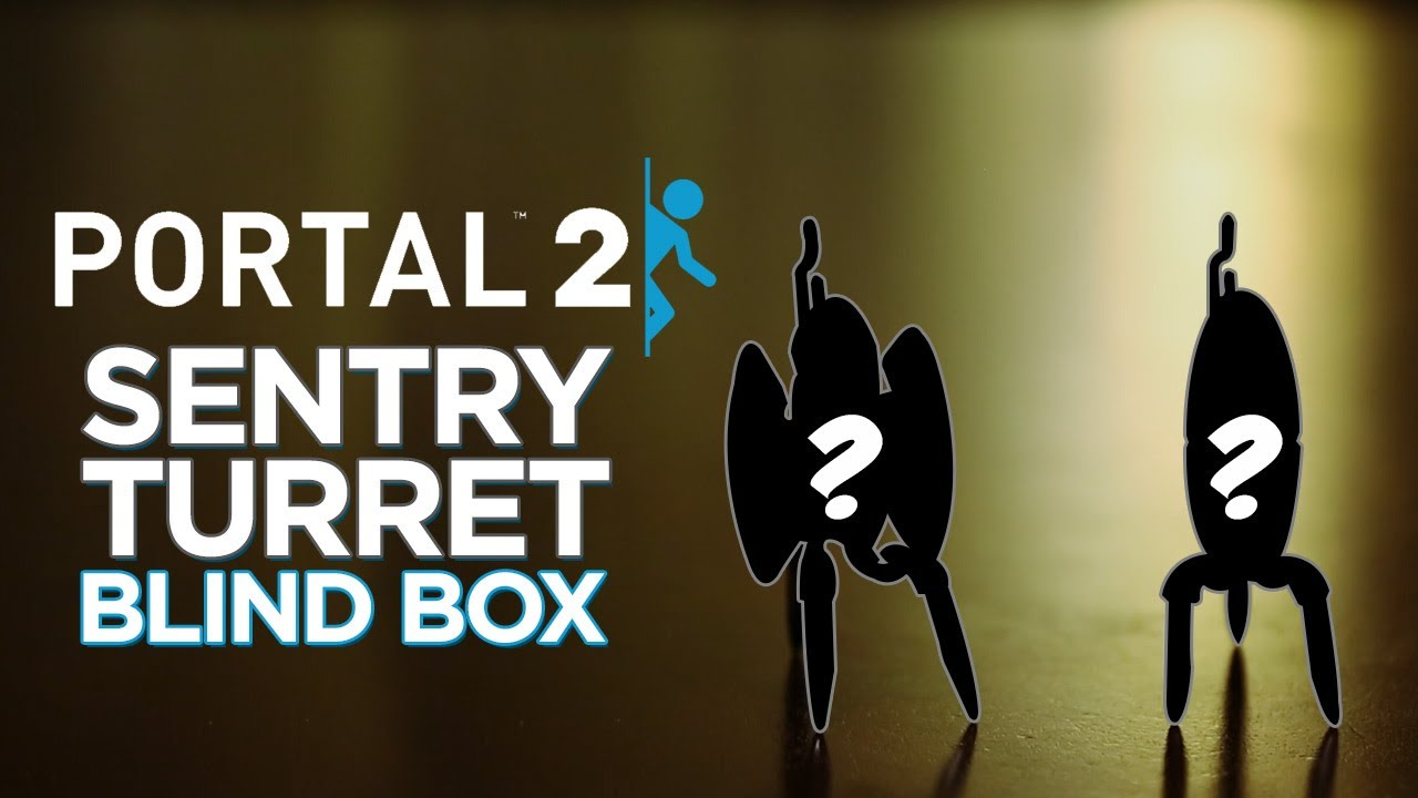 Portal 2 Sentry Turret Blind Boxes – Series 2!
