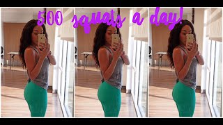 WHAT 500 SQUATS A DAY DID TO MY BUTT! - VIDEO