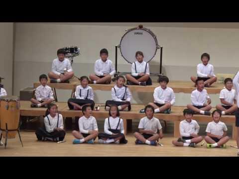 にじ 明日があるさ インドネシア民謡ケチャ 野間小学校第58回中種子町学校音楽祭での合唱・合奏
