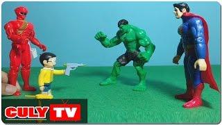 Nobita giúp siêu nhân gao đỏ bắt superman và hulk vượt ngục - đồ chơi doremon chế hài trẻ em, Sieu nhan Gao, phim sieu nhan Gao, phim sieu nhan gao moi nhat