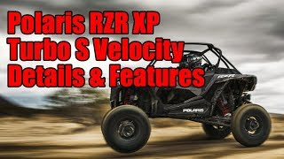 9. 2019 Polaris RZR XP Turbo S Velocity Details and Features