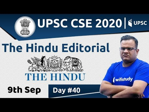 8:00 AM - UPSC CSE 2020 | The Hindu Editorial Analysis by Ashirwad Sir | 9 Sep 2019