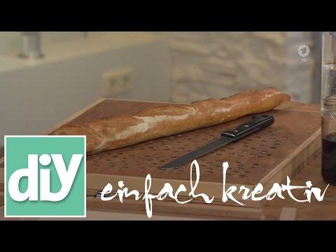 Brotschneidebrett mit Krümelfang I DIY einfach kreativ