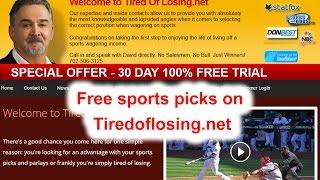 Free Sports Picks on Tiredoflosing.net (702) 506-3125