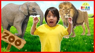 Learn zoo animals names for kids | Educational video for children with Ryan ToysReview