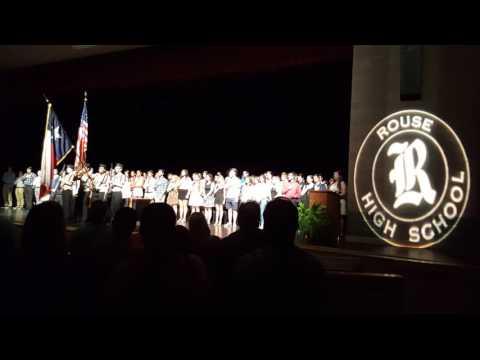 National Anthem at Rouse Grads Award night.