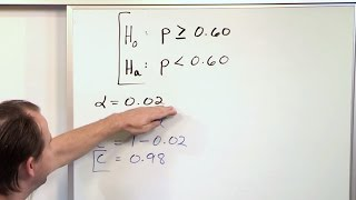 Null and Alternate Hypothesis - Statistical Hypothesis Testing - Statistics Course